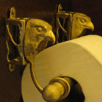 Falcon Toilet Paper Holder, side view