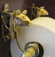 Mouse Toilet Paper Holder, side view