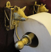 Pig Toilet Paper Holder, side view