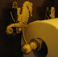 Seahorse Toilet Paper Holder, side view