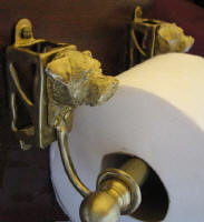 Border Terrier Toilet Paper Holder, side view