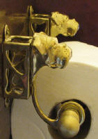 Boxer (natural) Toilet Paper Holder, side view