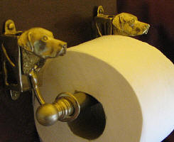 Chessie Toilet Paper Holder, side view