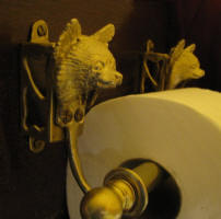 Chihuahua, long haired Toilet Paper Holder, side view