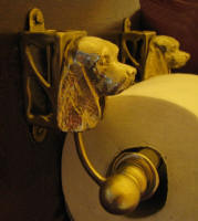 Cocker Spaniel Toilet Paper Holder, side view