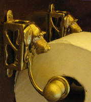 Wire Haired Dachshund Toilet Paper Holder, side view