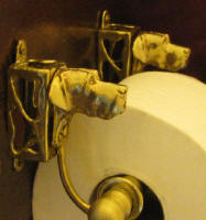 Great Dane (natural ears)  Toilet Paper Holder, side view