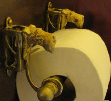Irish Terrier Toilet Paper Holder, side view