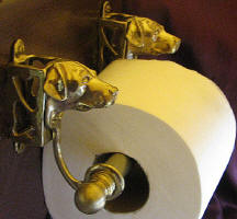 Lab Toilet Paper Holder, side view