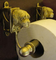 Labradoodle Toilet Paper Holder, side view