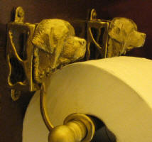 Newfoundland Toilet Paper Holder, side view
