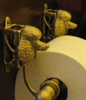 Poodle Toilet Paper Holder, side view