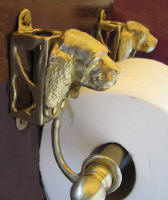 Sussex Spaniel Toilet Paper Holder, side view