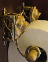 Yorkie Toilet Paper Holder, side view