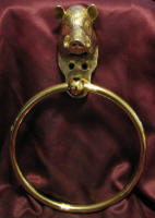 Large Boar Towel Ring